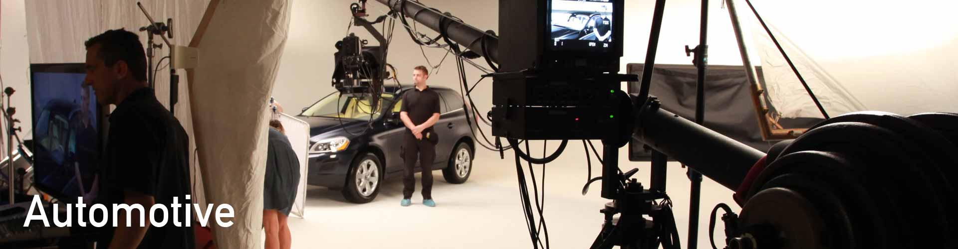automotive video, drive-in studio, video production